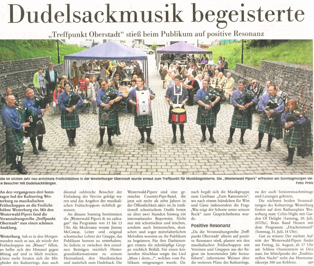 Westerburg Kultur (Neue Nassauische Presse 17.07.2011)